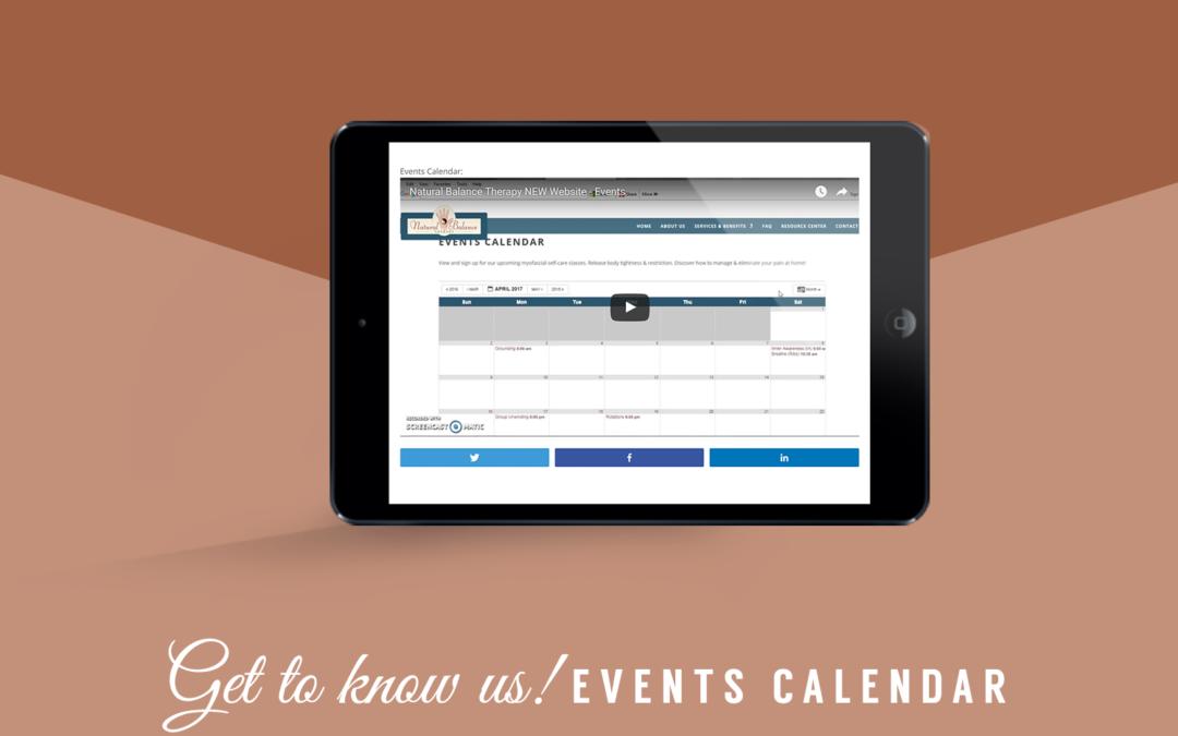 Website Video Tutorial – Events Calendar