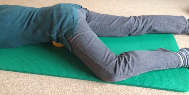 Psoas Release using the 4-inch Ball (3 position)
